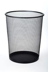 Empty Wastepaper Basket Isolated on White Background