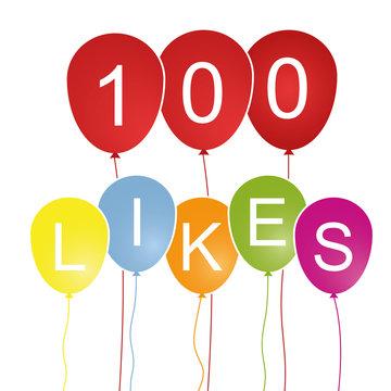 100 Likes - Luftballons