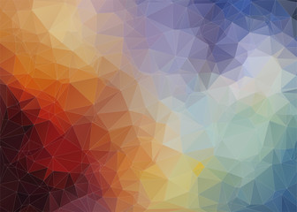 Abstract   colorful background with angulars Wall mural