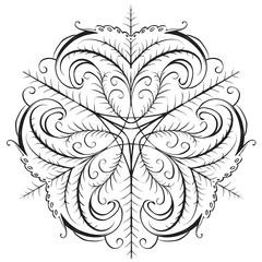 decorative elements in vintage style for decoration layout, framing, for tektsta for advertising, vector illustration hands