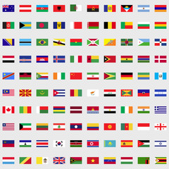 Flags of the world set