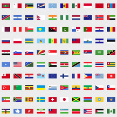 New flags of the world set