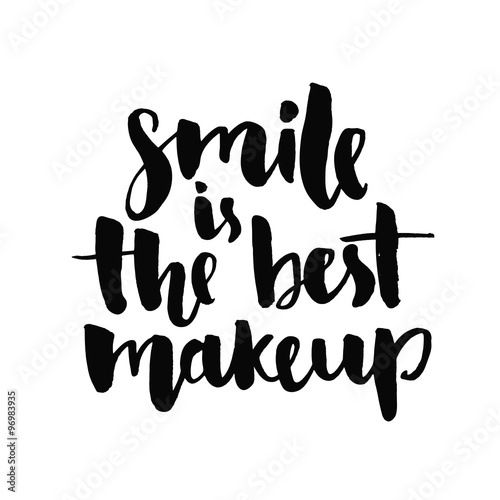 quotsmile is the best makeup inspirational quote handwritten