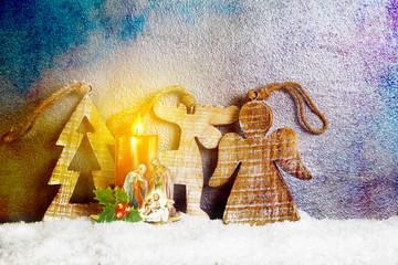 Nativity under Snow - Merry Christmas