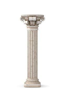 Classic Greek Pillar. 3d rendering.