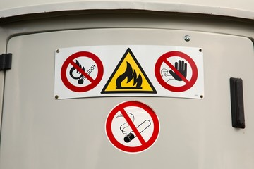 Flammable material container