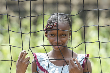 Gorgeous African Girl at a Sports Camp in Mali, Africa.