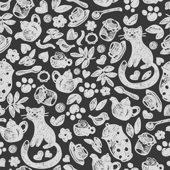 Sweet Home seamless pattern