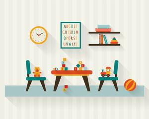 Playroom kids in nursery