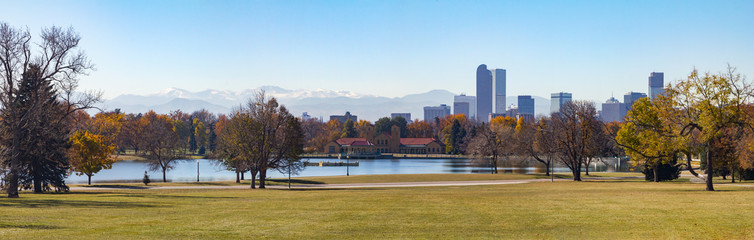 Denver Colorado City Park Panoramic Landscape