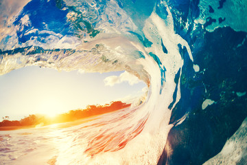 Wall Mural - Oceaen Wave at Sunset