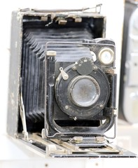 ancient camera used by photographers of the last century