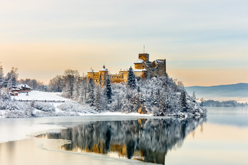 Beautiful view of Niedzica Castle, Poland