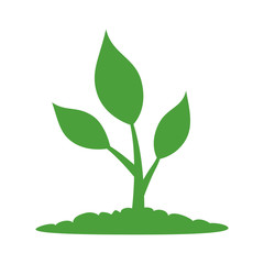 Natural plant life flat icon for apps and websites