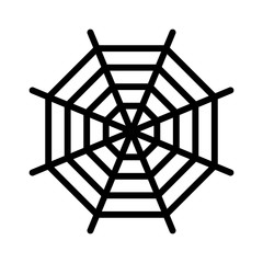 Spider web (spiderweb) line art icon for apps and websites