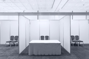 Booth with lighting