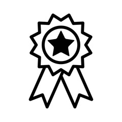 Award badge line art icon for apps and websites
