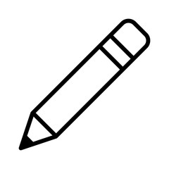 pencil, write or compose line art icon for apps and websites