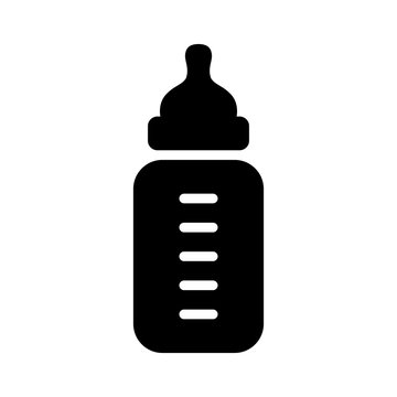 Baby milk bottle flat icon for apps and websites