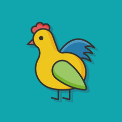 Rooster chicken animal icon