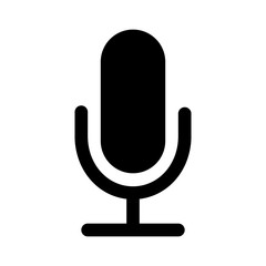Microphone speaker (speech to text) flat icon for apps and websites