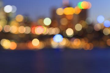 Blurred city lights in Sydney