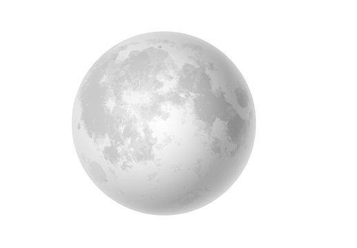 moon on white background