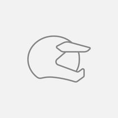 Motorcycle helmet line icon.