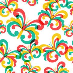 Vector seamless pattern with butterflies.