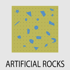 Artificial rocks climbing icon design