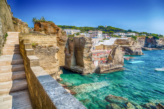 Rocks and architecture on the Salento coast