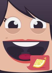 Woman face vector illustration