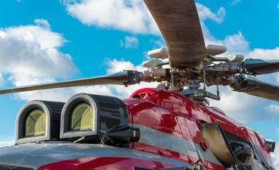 Foto auf Acrylglas Hubschrauber Military helicopter rotor blade detail