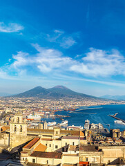 Spoed Fotobehang Napels Napoli and mount Vesuvius in Italy