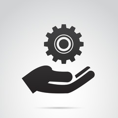 Settings vector icon.