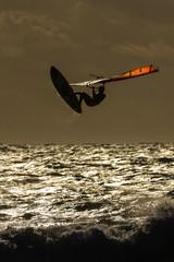 Windsurfer in der Abendsonne