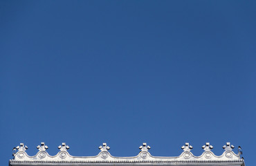 Architectural border with blue sky