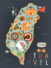 Taiwan specialties poster