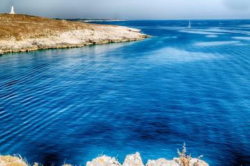 rocky beach on Adriatic Sea