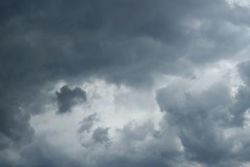 Thunderclouds over horizon, cloudscape, storm.