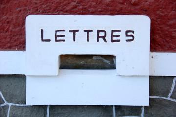 Letter slot. Mailbox