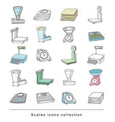 scales icon. vector illustration.