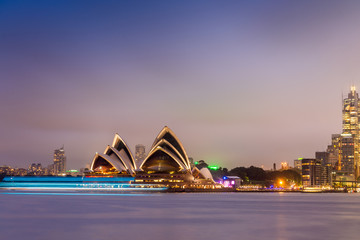 SYDNEY - OCTOBER 12, 2015: The Iconic Sydney Opera House is a mu