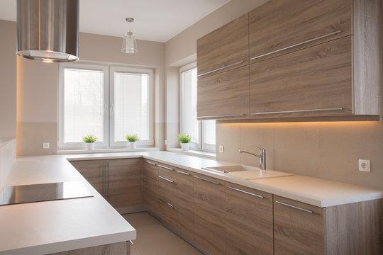 Bright wooden kitchen