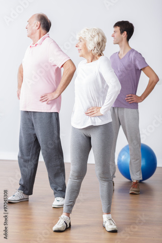 great discount vast selection 100% satisfaction Seniors in sportswear doing workout