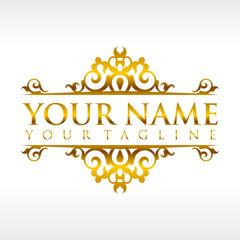 Golden Decorative Ornament Logo Template