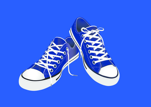 Sneaker Convers Blau Vektor