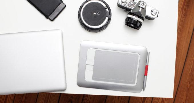 Fotografen Tisch analog