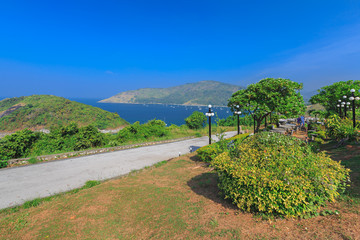 Beach on the island in Thailand viewpoint