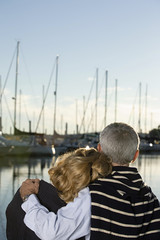 Couple at harbour